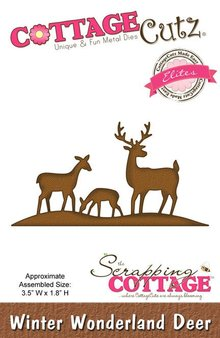 Scrapping Cottage Cottage Cutz Winter Wonderland Deer (Elites) (CCE-049)
