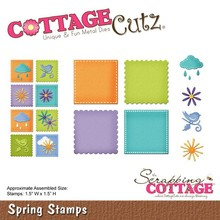 Scrapping Cottage CottageCutz Spring Stamps (CC-146)