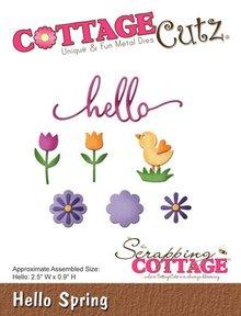 Scrapping Cottage CottageCutz Hello Spring (CC-166)