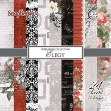 ScrapBerry's Elegy 6x6 Inch Paper Pack (170gsm), 24 Sheets) (SCB220604313b)