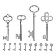 Idea-ology Silver Metal Keys (TH93321)