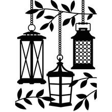 Darice Embossing Essentials Lanterns In Trees (1219-400)