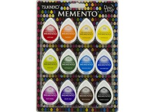 Tsukineko Memento Gum Drops Dye Ink Dew Drops Set (MD-012-100)