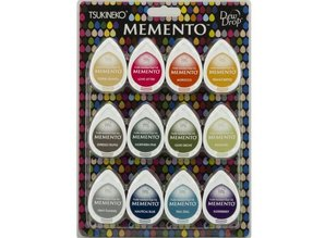 Tsukineko Memento Snow Cones Dye Ink Dew Drops Set (MD-012-300)