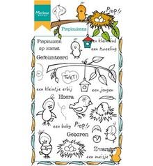 Marianne Design Piepkuikens Clear Stamps Set (HT1601)