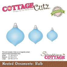 Scrapping Cottage CottageCutz Nested Ornaments Bulb (CCB-037)