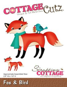 Scrapping Cottage CottageCutz Fox & Bird (CC-177)