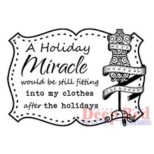 Deep Red Holiday Miracle Cling Stamp (3x505561)
