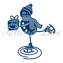 Tattered Lace Skating Snowman (D1351)