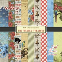 ScrapBerry's The Pirate's Treasure Set 6x6 Inch One Sided (24 Sheets Per Pack) (SCB220609209x)