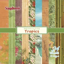 ScrapBerry's Tropics Paper Set 6x6 Inch One Sided (24 Sheets Per Pack) (SCB220609408x)