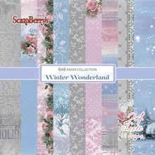 ScrapBerry's Winter Wonderland Paper Set 6x6 Inch One Sided (24 Sheets Per Pack) (SCB220609608x)