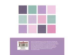 ScrapBerry's Elegantly Festive Paper Set 6x6 Inch One Sided (24 Sheets Per Pack) (SCB220609813x)