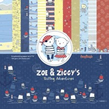 ScrapBerry's Zoe & Ziggy's Sailing Adventures Set 6x6 Inch One Sided (24 Sheets Per Pack) (SCB220609909x)
