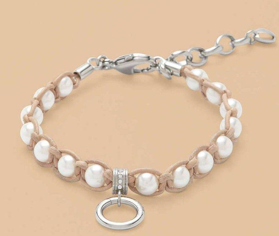8fed9497f4 ... Fossil Charm Anhänger Damen Armband Perlen Schmucksteine Bettelarmband Leder  Edelstahl NEU