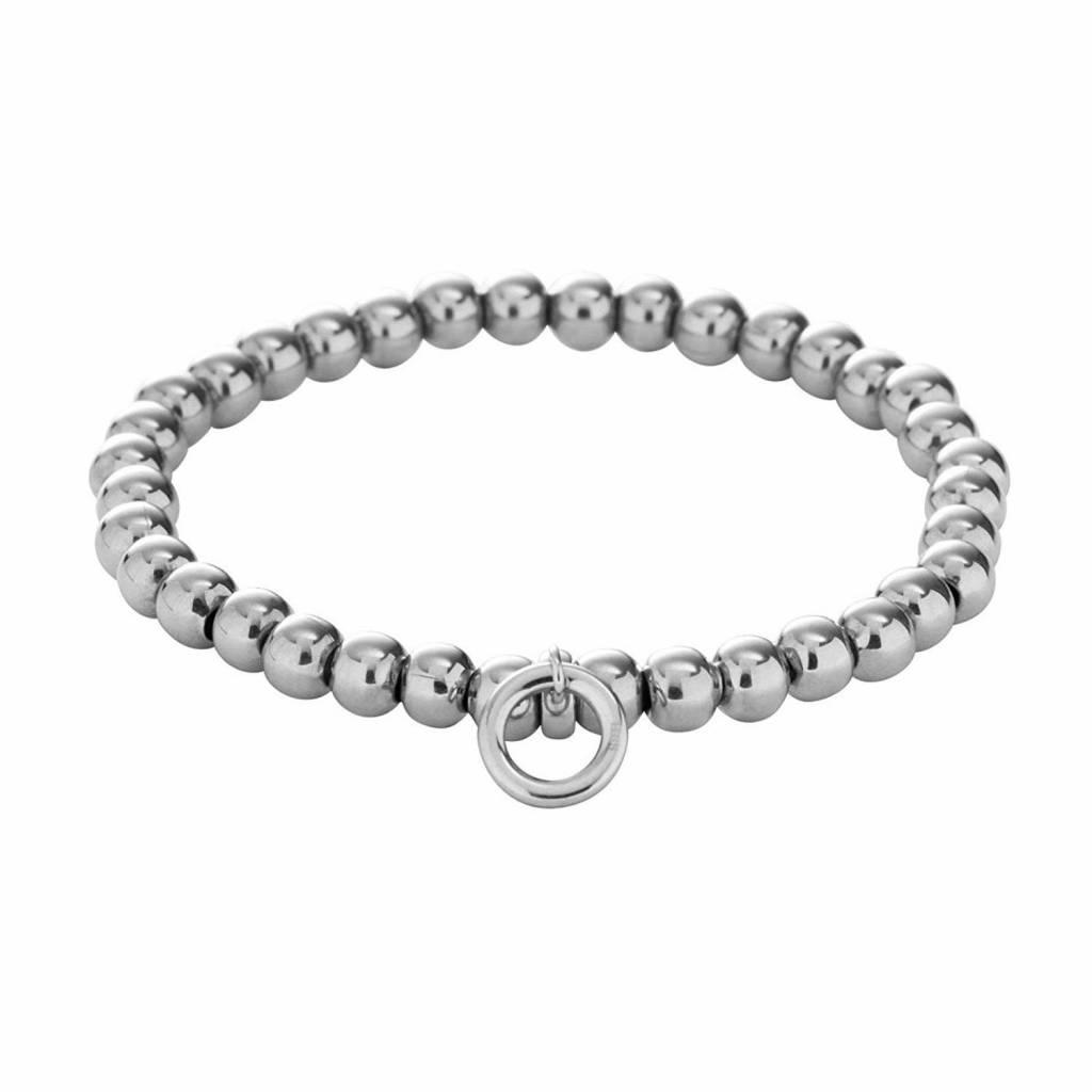 b12633f042 ... Fossil Edelstahl Charm Anhänger Damen Armband Perlen Bettelarmband  Edelstahl JF00023040 ...