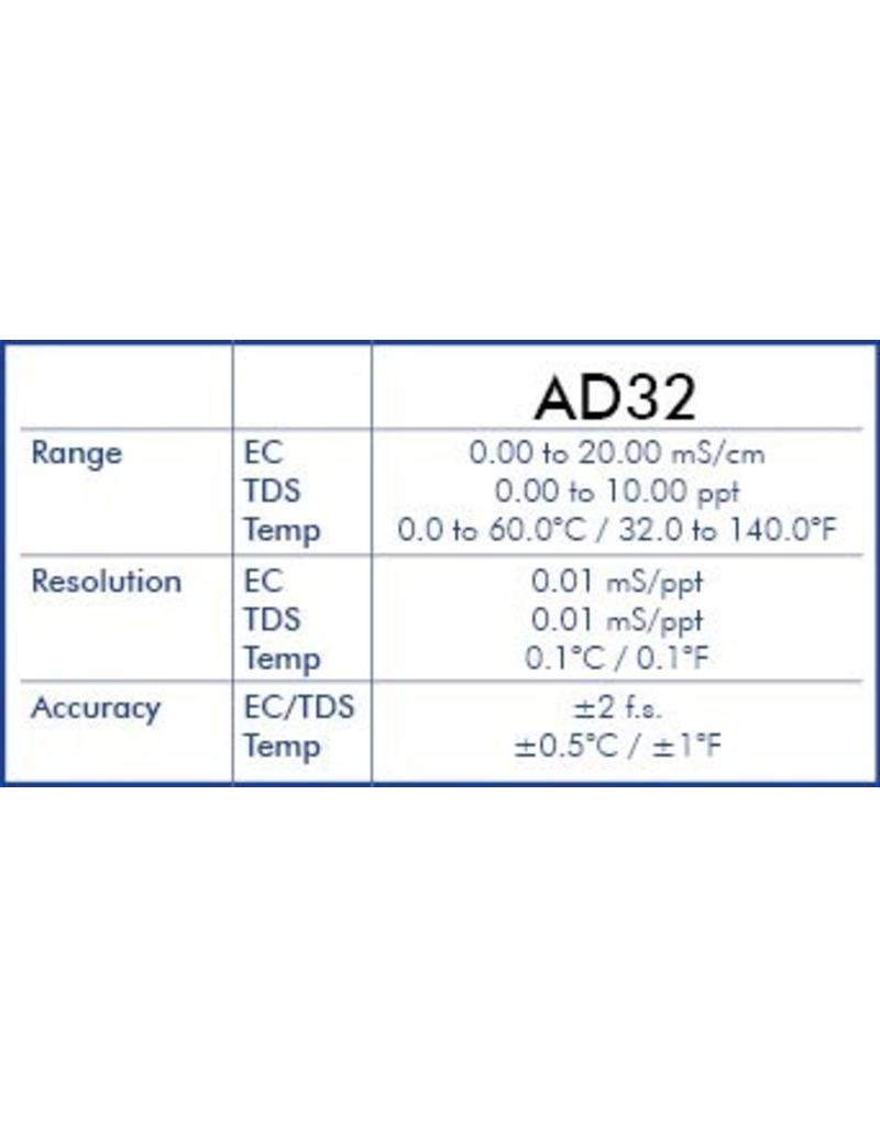 Adwa EC Meter / TDS / Temperatuurmeter AD-32