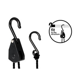 Garden High Pro LIGHTHANGER Rope Ratchet - Plastic 5kg hanging capacity/pair