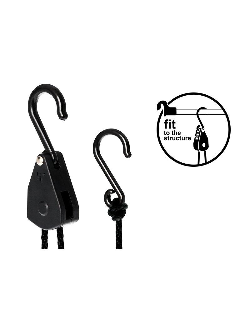 Garden High Pro LIGHTHANGER Rope Ratchet - Plastic 5kg hanging capacity/pair