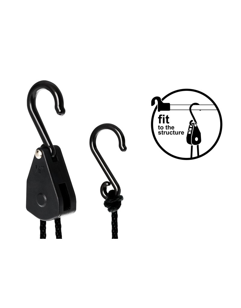 Garden High Pro LIGHTHANGER Rope Ratsche - Kunststoff 5kg Aufhängekapazität / Paar