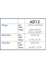 Adwa AD14 Wasserdichte pH-ORP-TEMP-Taschentester mit austauschbarer Elektrode
