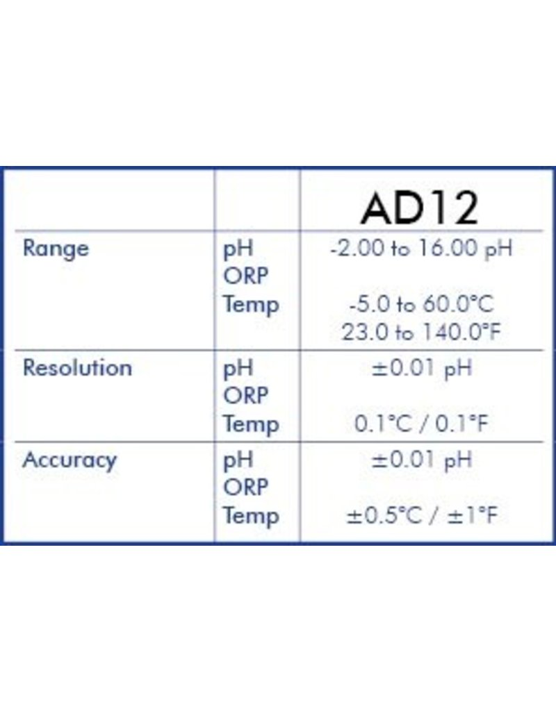 Adwa AD14 Waterproof pH-ORP-TEMP Pocket Testers with replaceable electrode
