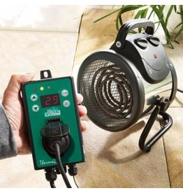 BIOGreen Gewächshausheizung - Elektrische Heizlüfter Palma 2 kW (Thermostat Digital)