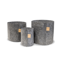 ROOTPOUCH CHARCOAL 12 ltr, 25st/bundel, 150gr/m2
