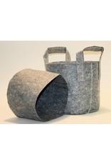 ROOTPOUCH GREY 3,8 ltr met HANDVAT, 10st/bundel, 250gr/m2