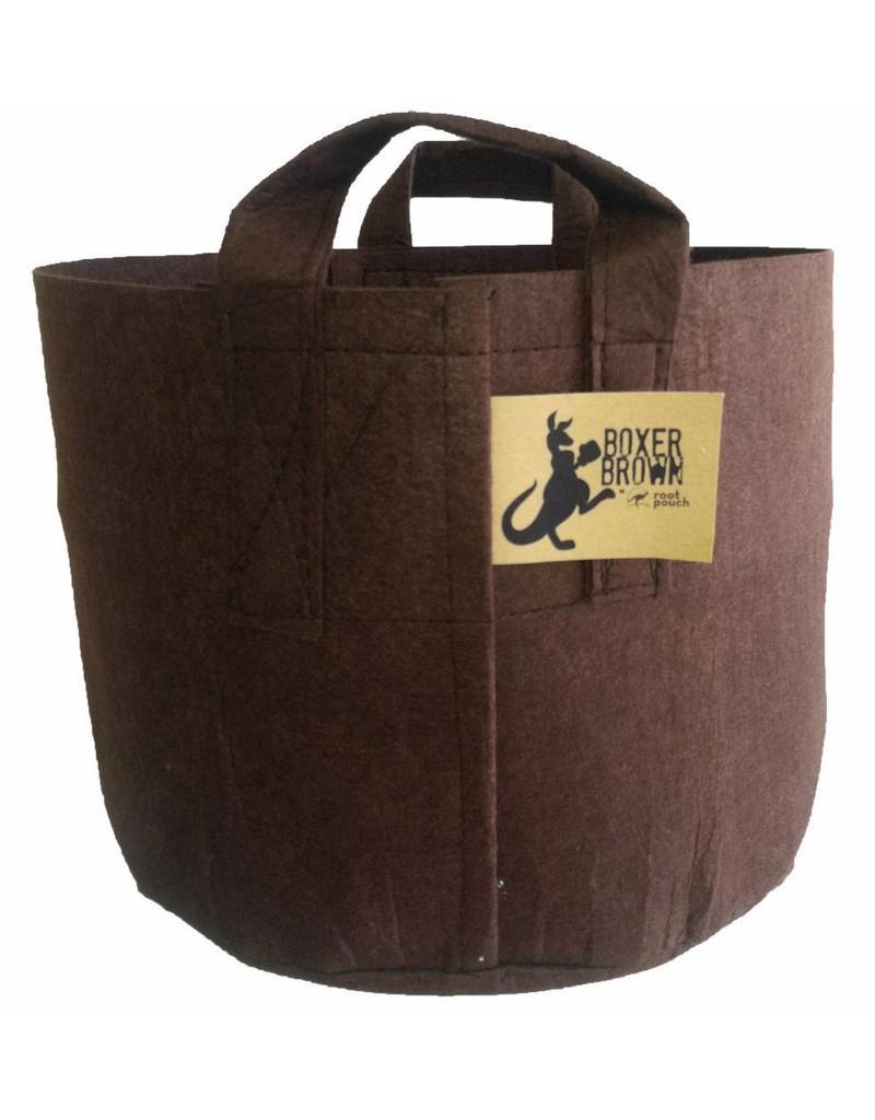 ROOTPOUCH BOXER BROWN , 8 ltr met HANDVAT,10st/bundel, 260gr/m2
