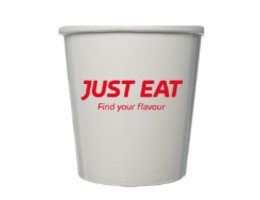 Just Eat branded Soup Containers + Lid - 16 oz (250 pcs)