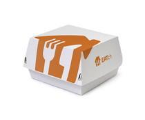 White Just Eat branded burger boxes -500 pack