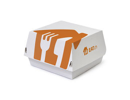 White Just Eat branded burger boxes - 500 pack
