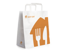 Large White Paperbags - 32 (H) x 17 (W) x 34 (D) cm