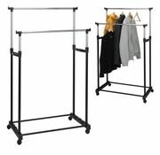 Storage Solutions Verstelbaar dubbel kledingrek (86x42x170cm)