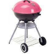 BBQ Collection Roze metalen houtskool barbecue op wielen (60x46cm)