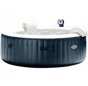 Intex Opblaasbare 4-Persoons PureSpa Plus Bubble Massage Navy (Ø:196cm)