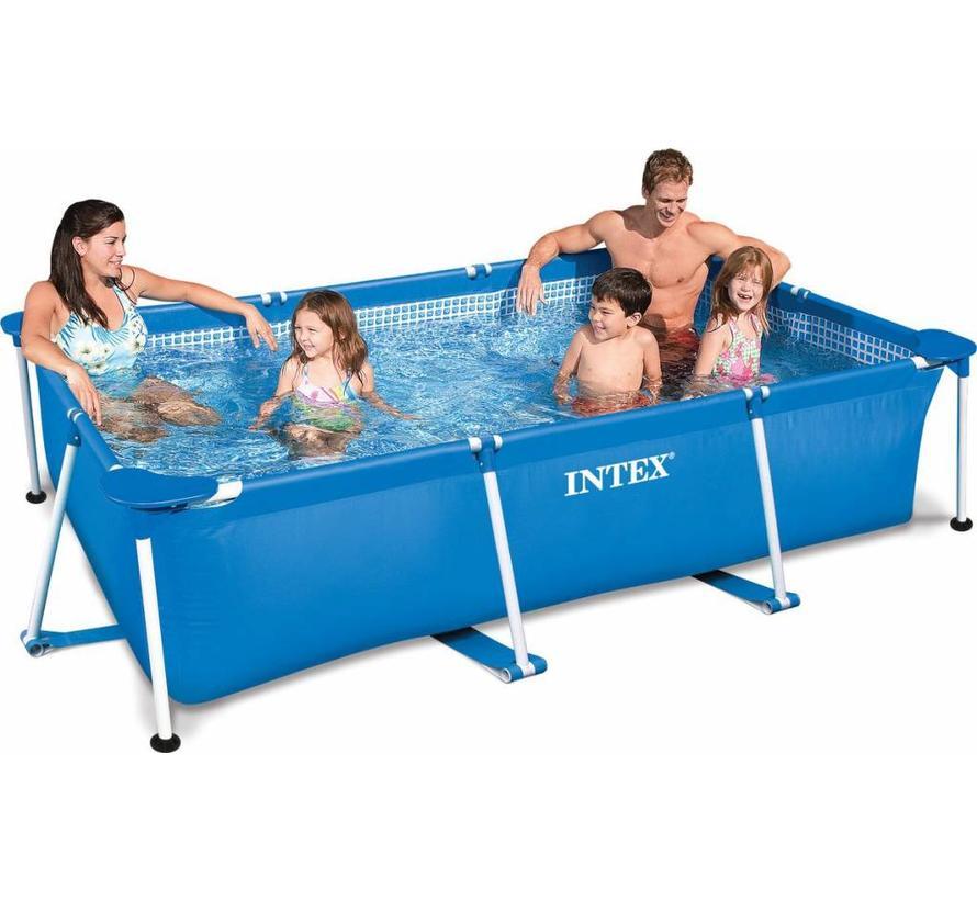 Metal frame zwembad - rechthoekig - 300cm x 200cm x 75cm