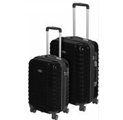 ProWorld Kofferset 2-delig Zwart Deluxe ABS