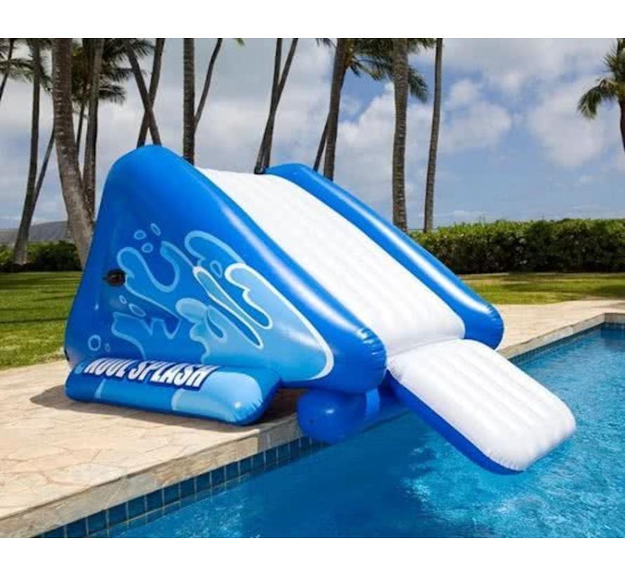 Kool splash - opblaasbare glijbaan - met sproeiers - 333cm x 206cm x 117cm