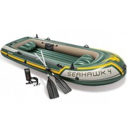 Intex 4-persoons opblaasbare boot set - Seahawk 4 - 351x145x48cm