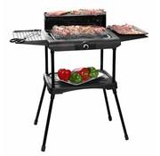 Excellent Electrics Staande elektrische barbecue - zwart - 2000 Watt - 87x46x86cm
