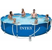 Intex Metalen frame set zwembad - met filterpomp - Ø366cm x 76cm