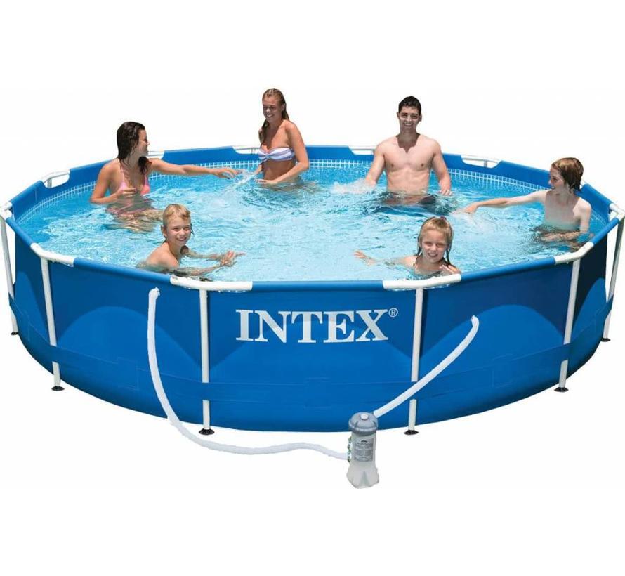 Metalen frame set zwembad - met filterpomp - Ø366cm diameter x 76cm hoog