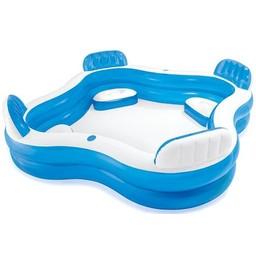 Intex Familie lounge zwembad met 4 zitjes (239x239x66cm)