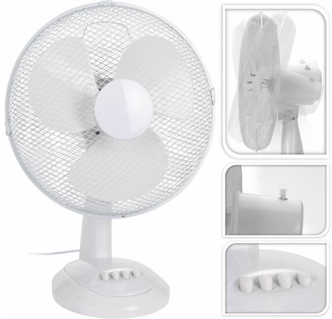 Tafelventilator Wit 30cm diameter (45 Watt) Excellent Electrics - 52x12x49 wit