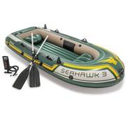 Intex 3-Persoons opblaasbare boot set - Seahawk 3 - met peddels en pomp - 295x137x43cm