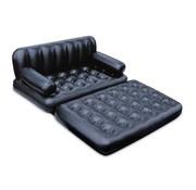 Bestway 2-Persoons opblaasbare slaapbank - zwart - 152x94x64cm
