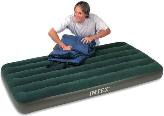 Prestige Downy 1-Persoons camping luchtbed incl. Batterijpomp (191x99x22cm) Intex