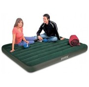 Intex Queen Prestige Downy 2-Persoons camping luchtbed incl. Batterijpomp (203x152x22cm)